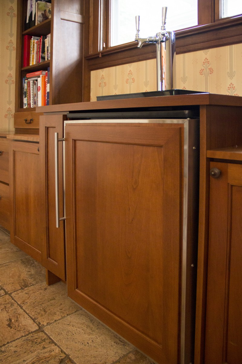 oak park built in kegerator amish cabinet company